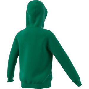 adidas Kinder Core 18 Hoodie Kapuzenpullover grün – Bild 2
