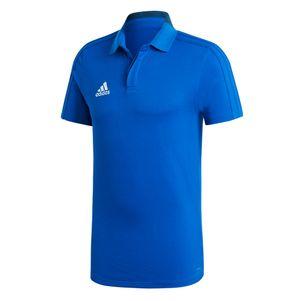 adidas Condivo 18 Poloshirt Herren Baumwollmischgewebe blau – Bild 1