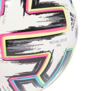 adidas Euro 2020 Uniforia Miniball weiß / schwarz Größe 1 – Bild 5