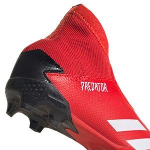 adidas Kinder Predator 20.3 FG Fußballschuhe rot / weiß – Bild 6