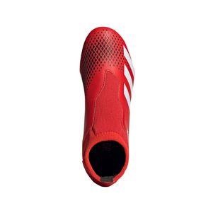 adidas Kinder Predator 20.3 FG Fußballschuhe rot / weiß – Bild 3