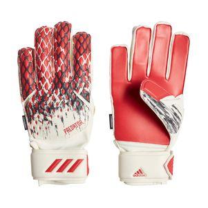 adidas Kinder Predator 20 Fingersave Manuel Neuer Torwarthandschuhe rot / weiß – Bild 1