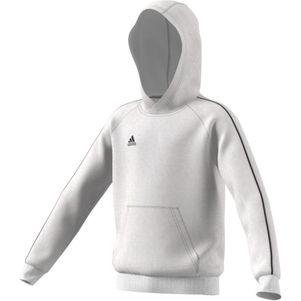 adidas Kinder Core 18 Hoodie Kapuzenpullover weiß – Bild 1