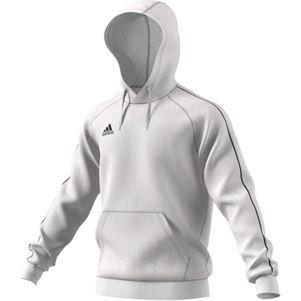 adidas Core 18 Hoodie Kapuzenpullover weiß – Bild 1