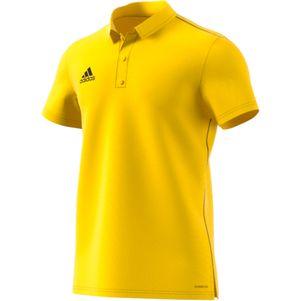 adidas Core 18 Herren Poloshirt gelb – Bild 1
