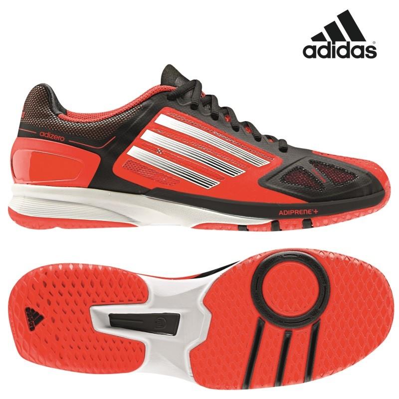 the best attitude 0c8a6 c9a0f adidas adizero Feather Pro Handballschuhe schwarz  weiß  rot