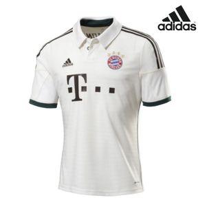 adidas FC Bayern München Away Kinder 2013/2014 Trikot weiß/braun/grün