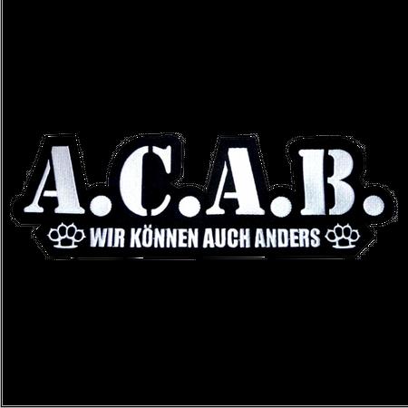 großes Rückenpatch A.C.A.B.