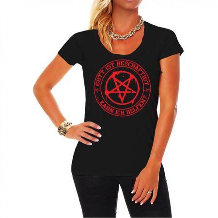 Frauen Shirt Gott ist beschäftigt...