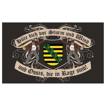Fahne Sachsen
