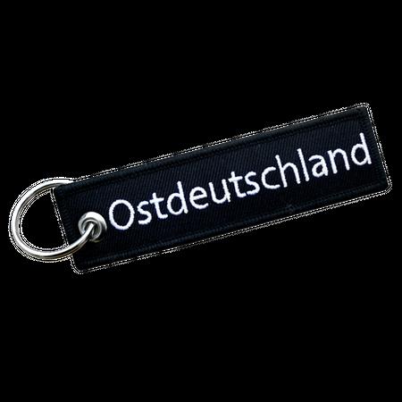 gewebter Schlüsselanhänger Ostdeutschland (klare Schrift)