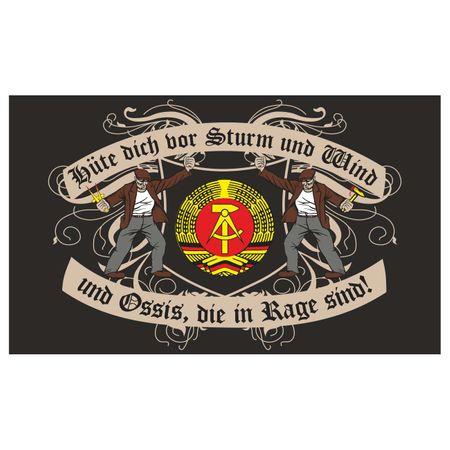 Fahne Hüte dich DDR