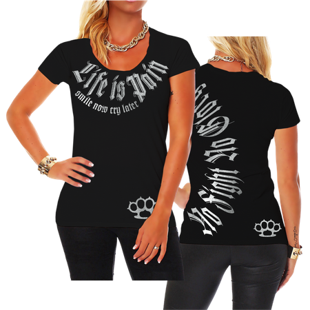 Frauen Shirt Smile now Cry later (SILBER Serie)