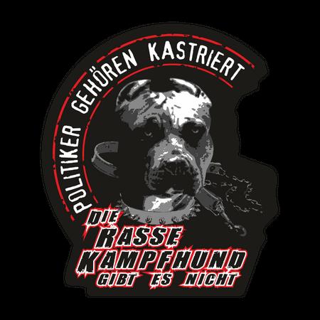 Aufkleber Die Rasse Kampfhund