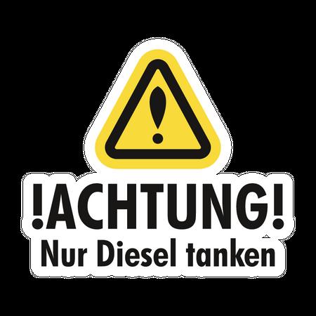 Aufkleber Nur Diesel Tanken