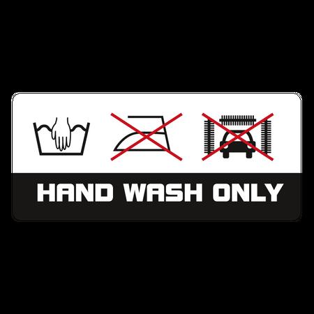 Aufkleber Hand Wash Only