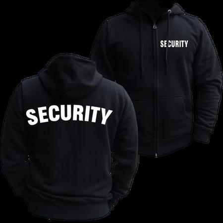 Männer Kapuzenjacke Security
