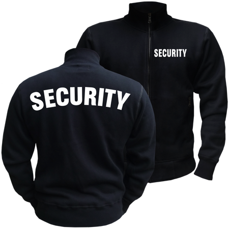 Männer Sweatjacke Security