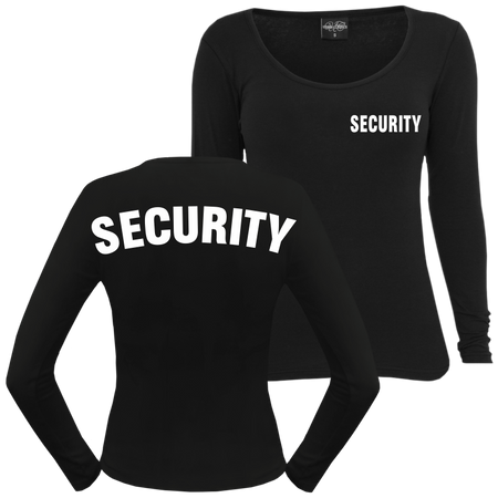 Frauen Longsleeve Security