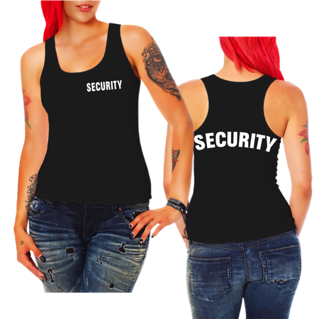 Frauen Trägershirt Security