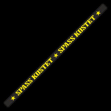 Nummernschildaufkleber Spass Kostet (schwarz/gelb)