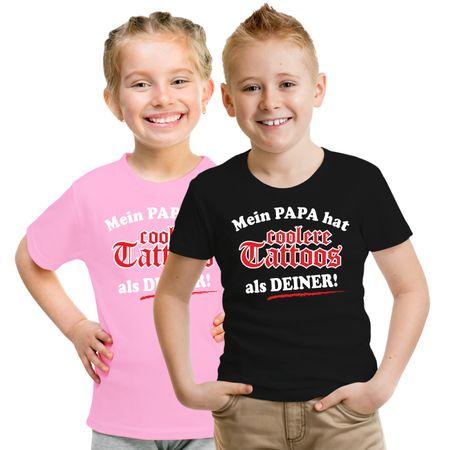 Kinder T-Shirt Mein Papa hat coolere Tattoos als deiner!