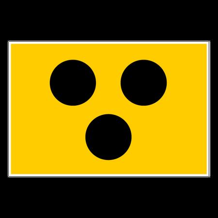 Aufkleber Blindenzeichen
