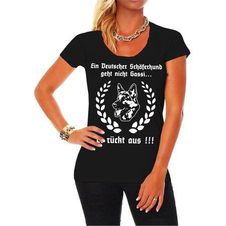 Frauen Shirt Ein deutscher Schäferhund geht nicht Gassi...