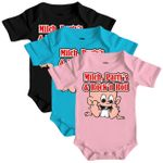 Baby Body Strampler kurz Milch, Party's & Rock'n Roll 1