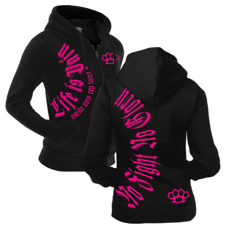 Frauen Kapujacke Smile now Cry later PINKE Serie