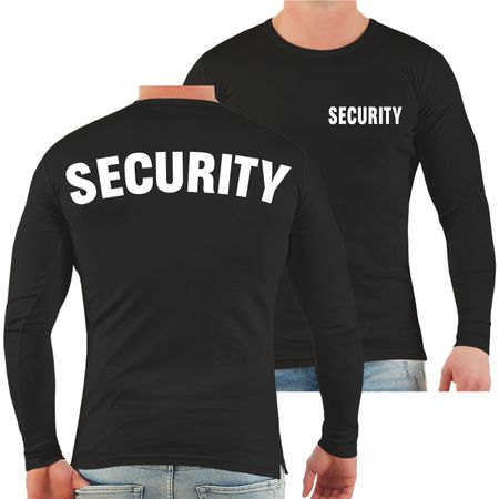 Männer Longsleeve Security