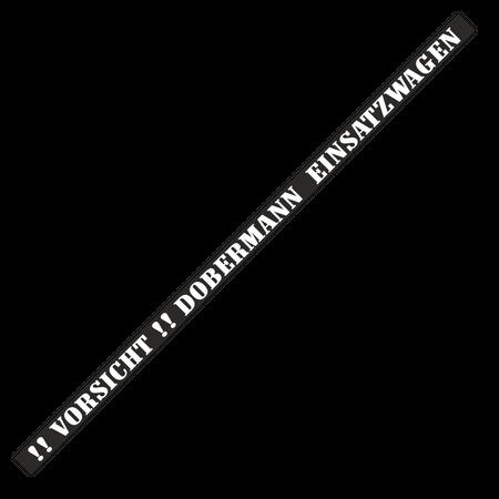 Nummernschildaufkleber Dobermann