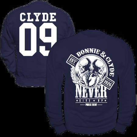 Männer Sweatshirt Bonnie & Clyde GANGSTER
