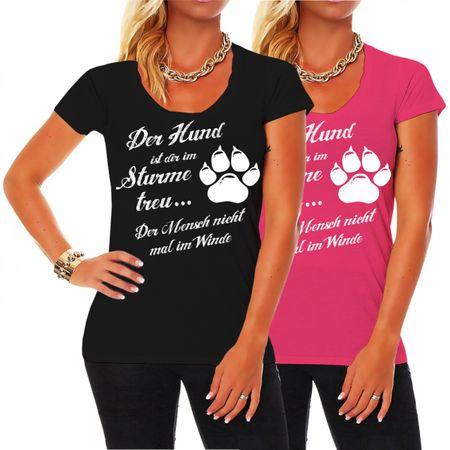 Frauen Shirt Der Hund ist dir im Sturme treu