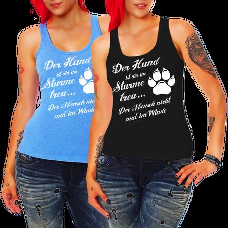Frauen Trägershirt Der Hund ist dir im Sturme treu