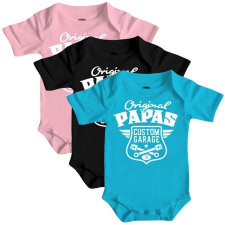 Baby Body Strampler kurz Original Papas Garage