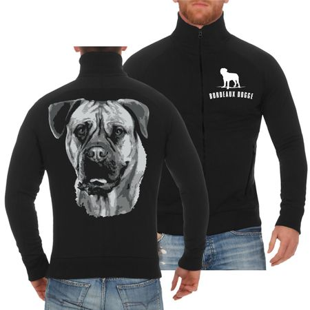 Männer Sweatjacke Bordeaux Dogge