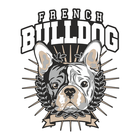 Aufkleber French Bulldog BOSS