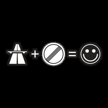 Aufkleber Autobahn = kein Tempolimit