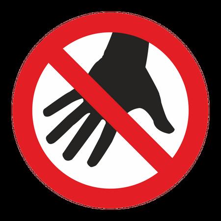 Aufkleber Don't Touch