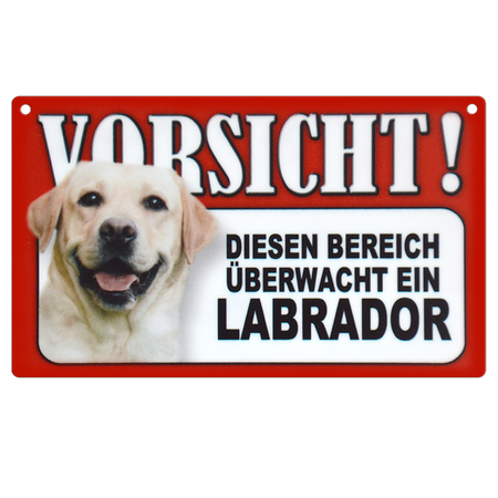 Warnschild Labrador