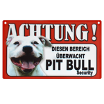 Warnschild Pit Bull Security 001