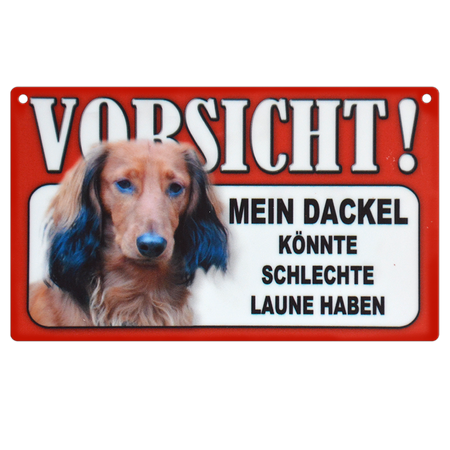 Warnschild Dackel