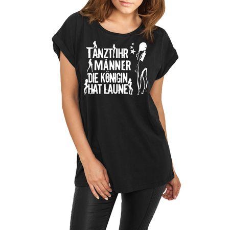 Frauen lässiges Shirt Tanzt Ihr Männer WEISS