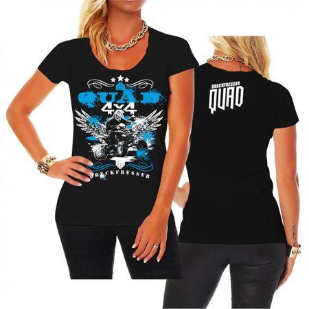 Frauen Shirt Dreckfresser QUAD
