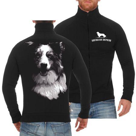 Männer Sweatjacke Australian Shepherd