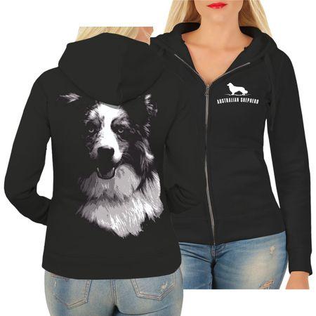 Frauen Kapujacke Australian Shepherd