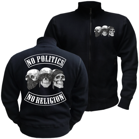 Männer Sweatjacke No Politics No Religion