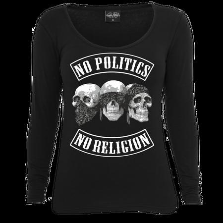 Frauen Longsleeve No Politics No Religion