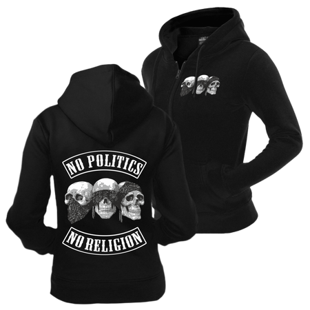 Frauen Kapujacke No Politics No Religion